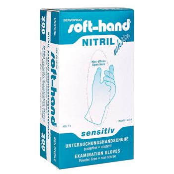 Soft-Hand > Nitril - White Sensitive - puderfrei - S - klein
